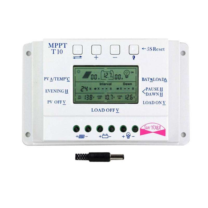 LCD Display 10A MPPT 12 V/24 V Solar Panel Batterie Regler Laderegler Einstellbar Ladung und Entladung Steuerung parameter