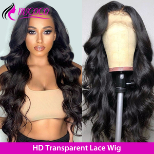 Mscoco Hair Body Wave Wig HD Lace Wig 360 Lace Frontal Transparent Lace Wigs Pre Plucked Brazilian Lace Front Human Hair Wigs(China)