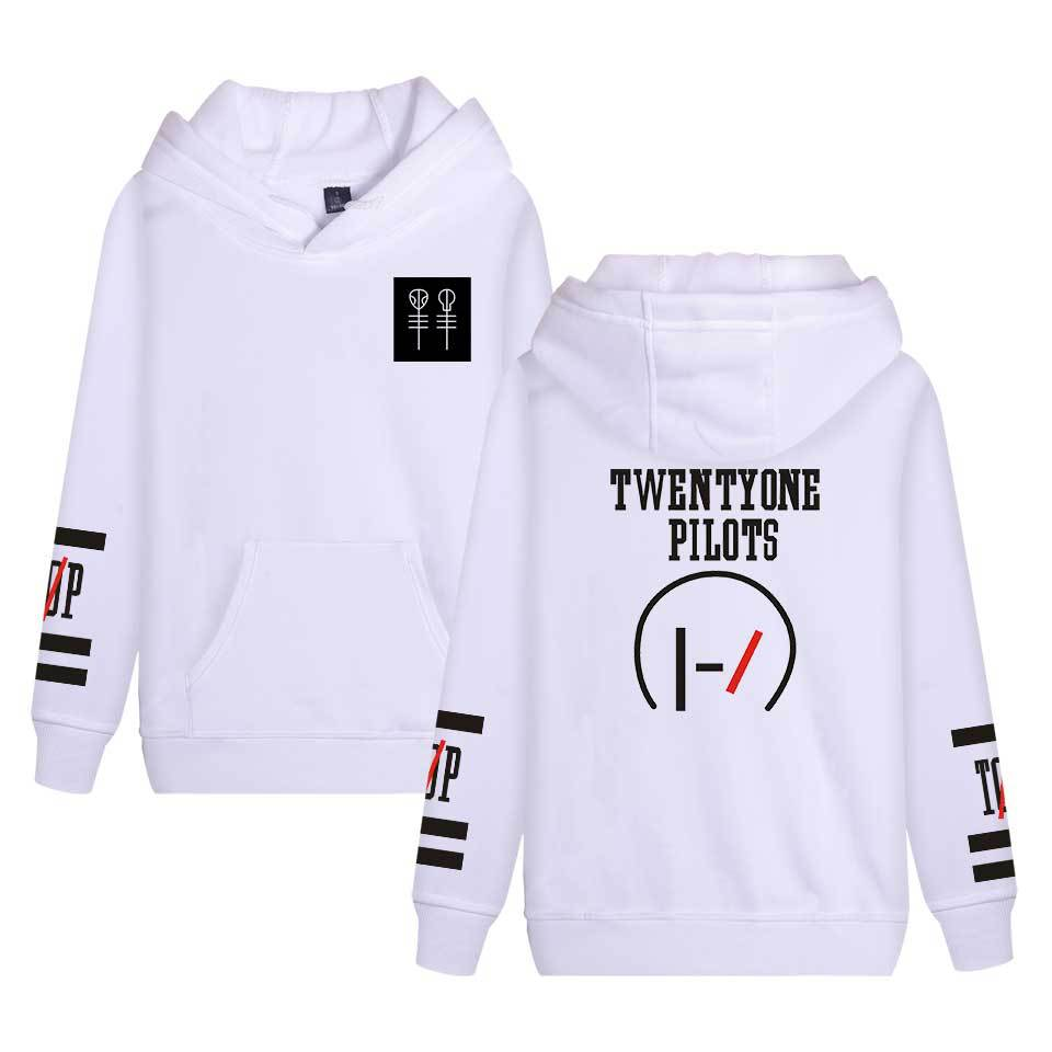 Twenty ONE Pilots Band 2016 New Style Coat Europe And America Fashion Hooded Sweater COUPLE'S