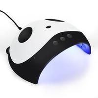 36 w panda usb conduziu a lâmpada para secador de unhas para unha uv cura lâmpada para manicure luz dupla auto movimento secador para unha cura lâmpada uv|Ultravioleta| |  -