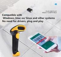 USB New Wireless Scanner Versatile Supports 1D 2D Screen Scan with Storage Function Bar code Scanner scan supermarket Retail