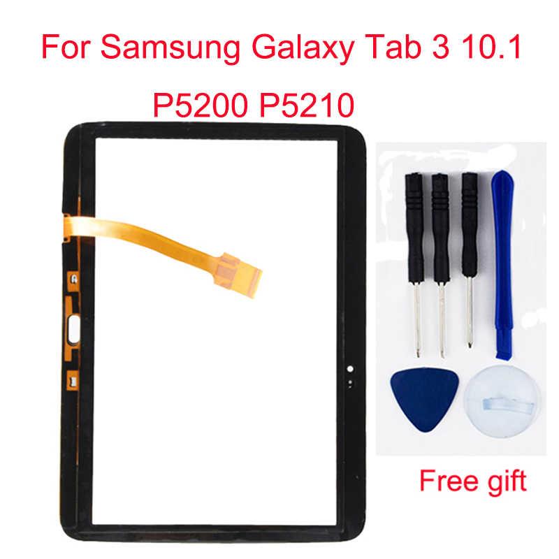 أسود/أبيض لسامسونج غالاكسي تبويب 3 10.1 P5200 P5210 محول الأرقام بشاشة تعمل بلمس الاستشعار الزجاج + شاشة الكريستال السائل شاشة لوحة رصد