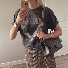 Eagle T Shirt Women Short Sleeve O Neck Black 100% Cotton Tshirt Shirts Summer 2020 Vintage Tee Shirt Oversize Tops Graphic
