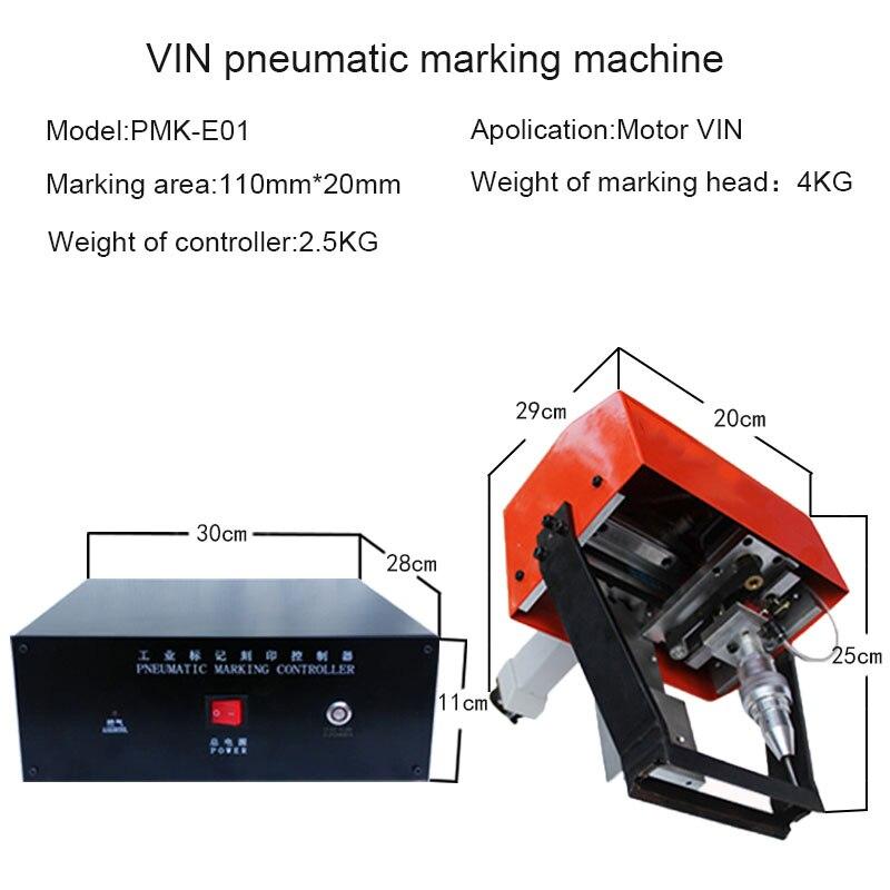 Купить с кэшбэком Cheap Small Portable Industry Metal CNC Engraver Machine Dot Peen Marking Machine for VIN Chassis Nameplate Stainless Steel