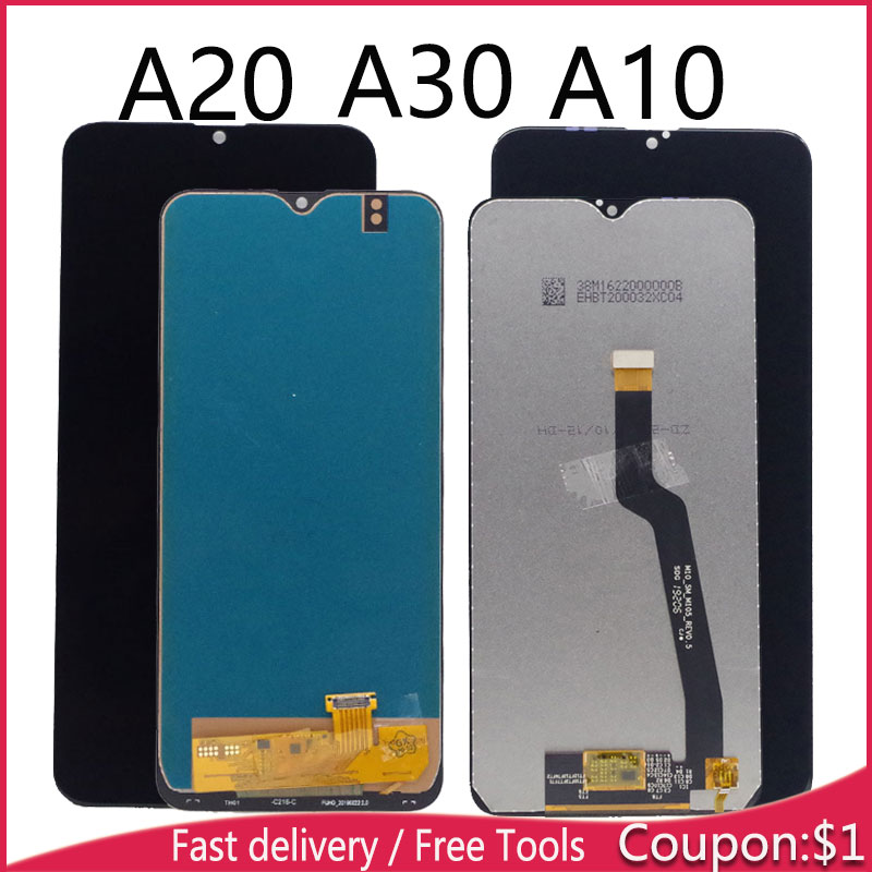 LCD For Samsung Galaxy A20 A205 SM-A205F LCD Display For Samsung A30 Lcd Screen Digitizer For Samsung A10 LCD Display