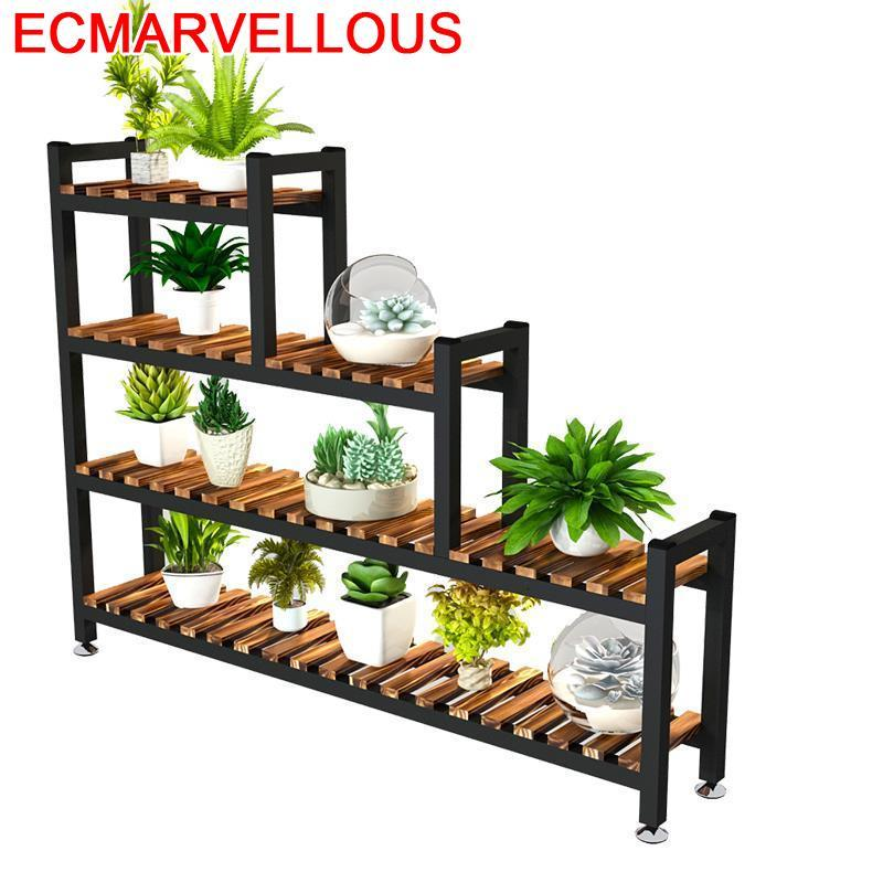 Etagere Pour Plante Garden Shelves For Escalera Decorativa Madera Outdoor Balcony Stojak Na Kwiaty Flower Shelf Plant Stand