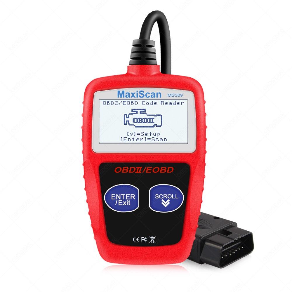 Lector de código de coche MS309 OBD OBD2, herramienta de diagnóstico automático MS 309, lector de código de motor de diagnóstico OBD 2, mejor que ELM327