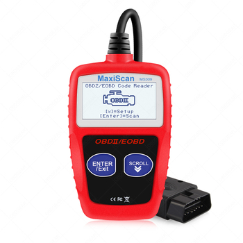 MS309 OBD OBD2 escáner lector de código coche MS 309 herramienta de diagnóstico automático OBD 2 lector de código de motor de diagnóstico de coche mejor que ELM327