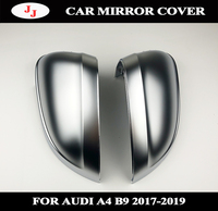 Car Auto Rearview Mirror Shell Cover for Audi B9 A4 A5 S4 2017 2019 New 1 Pair Matte Chrome Silver Replacement Protection Cap