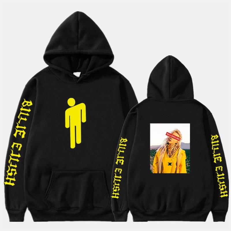 Billie Eilish Fashion Printed Hoodies Women/Men Long Sleeve Hooded Sweatshirts 2020 Hot Sale Casual Trendy Streetwear Hoodies