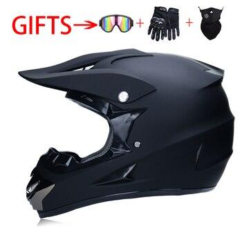 цена на Racing Motocross Motorbike Helmet DOT Casque Moto Capacete Moto Casco Off-road Cartoon Full Face Motorcycle Helmet Women 3 Gifts
