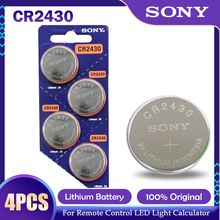 4 шт./лот Sony CR2430 CR 2430 DL2430 BR2430 KL2430 Кнопка батарейки-таблетки для мобильного часо-наушников слуховые аппараты игрушка 3V литиевая батарея
