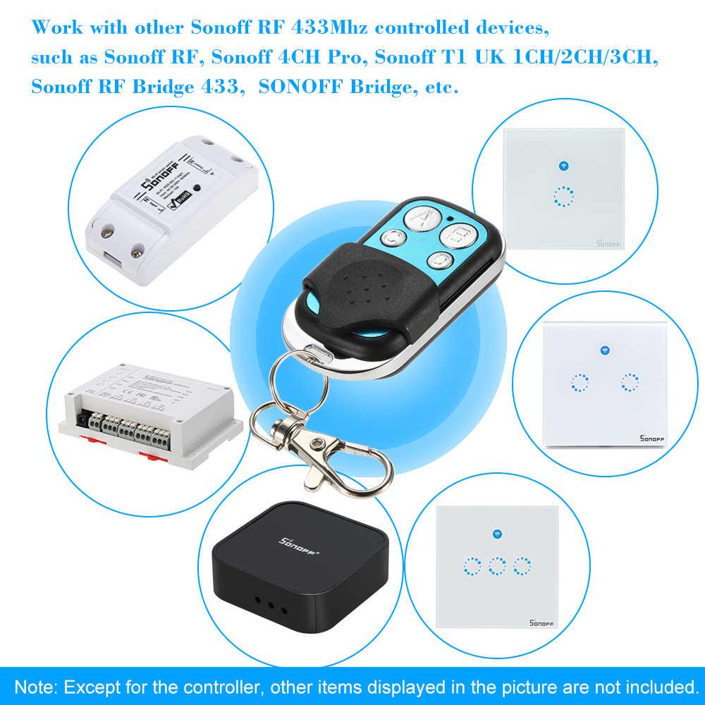 433 MHz รีโมทคอนโทรล WIFI 4 ช่อง 433 ควบคุม ABCD 4 ปุ่มสวิทช์คีย์สมาร์ท FOB Controller 1527 ชิป
