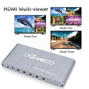 Мультимедийный видеокоммутатор HDMI, 4 входа, 1 выход, 4 × 1 переключатель для просмотра видео, конвертер для телевизора, ПК, ноутбука, проектора