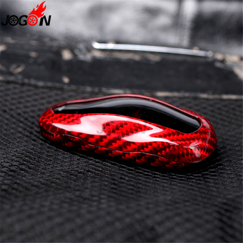 Carbon Fiber For Tesla Model S 2012 - 2019 X 2016 - 2019 Car Styling Steering Wheel Button Frame Cover Trim Molding Accessories