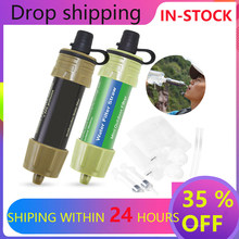 2pcs Outdoor Survival Water Purifier Water Filter Straw Water Mini Filter Filtration System Outdoor Activities Emergency Life