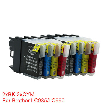 8x LC980 LC985 LC975 Ink Cartridges Compatible For Brother DCP- J140W DCP-145C DCP-165C DCP-185C DCP-195C DCP-197C DCP-365CN фото