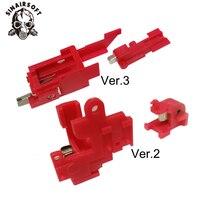 Calor sinairsoft vermelho interruptor de resistência elétrica paintball tiro caça acessórios para airsoft aeg versão 2/3 gearbox alvo