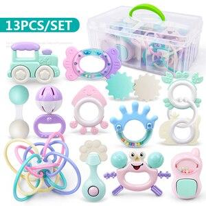 QWZ Новые Детские погремушка-грызунок игрушки от 0 до 12 месяцев Jingle встряхивание колокол детские игрушки для новорожденных ручка Колокольчик...