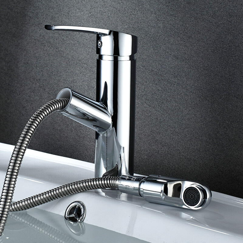 Stainless Steel Faucet Hot And Cold Basin Wash Basin Faucet Retractable Faucet Manufacturers Wholesale