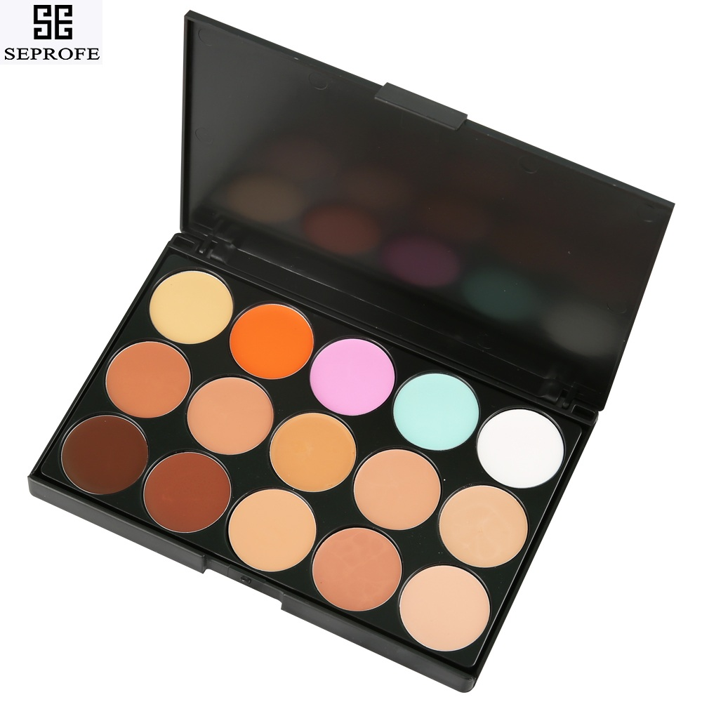 15 Colors Matte Face Concealer Palette Highlighter Concealer Cream Eye Contour Corrector Waterproof Shadow Make Up Pallete image