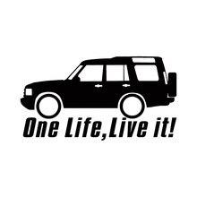 Autocollants de voiture tout-terrain, 4x4, jdm, pour fenêtre arrière, One Life Live It, Land Discovery