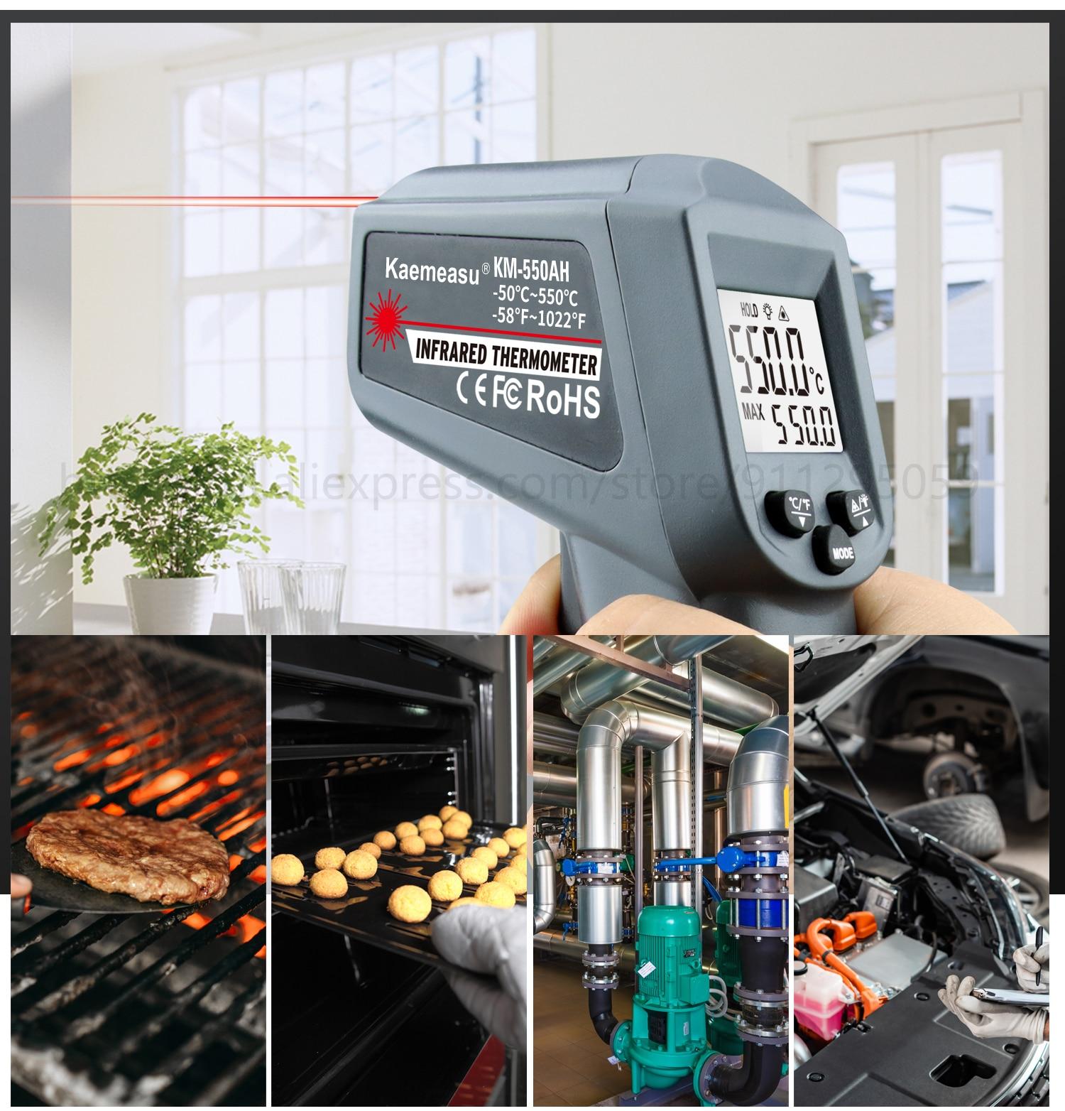 Kaemeasu Digitale Infrarood Thermometer -50 ~ 1600 Meetbereik, Non-contact, Veiligheid, Koken, industriële Elektronische Thermometer Pistool 24