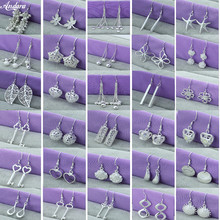 цены Hot Sale 925 Sterling Silver Simple Fashion Dragonfly/Star /Heart/Crown Drop Earrings Jewelry Women Earrings For Wedding Party