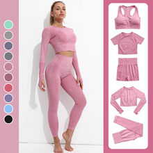 Yoga Outfits for Women 2 Piece Set,Workout High Waist Athletic Seamless Leggings and Sports Bra Set Gym Clothes