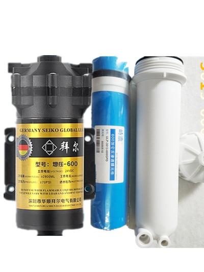 600 Gpd Booster Pump Water Filter Cartridge 600 RO Membrane Water Filter Housing 1/4 Filter Reverse Osmosis System