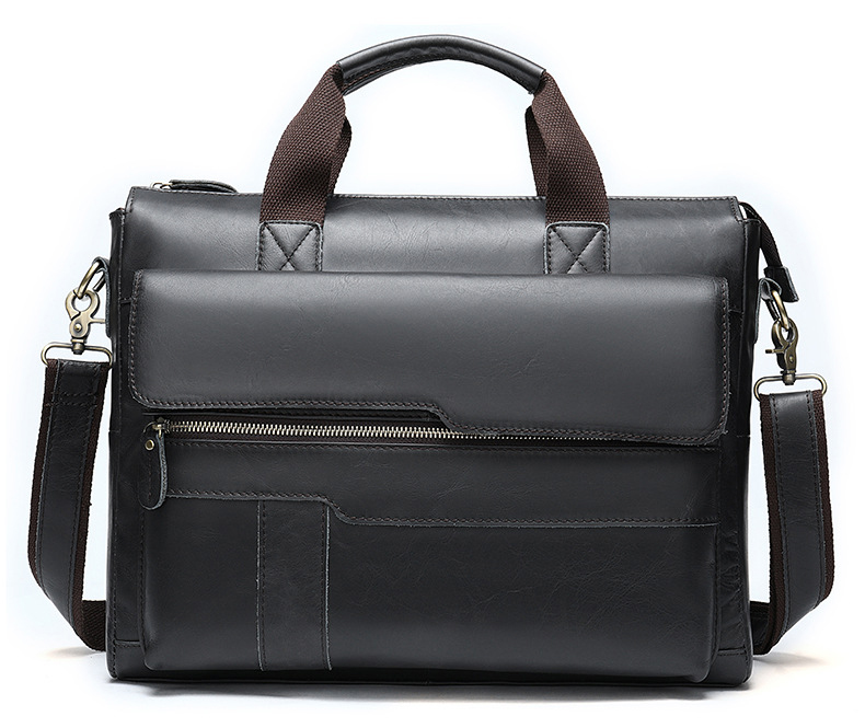 Luufan Genuine Leather Briefcase For Man 14 15 Inch Laptop Briefcases Business Travel Leather Working Totes New Formal Handbag