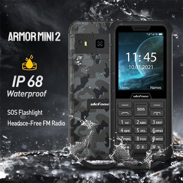 """Ulefone שריון מיני 2 טלפון נייד חיצוני הרפתקאות טלפון 2.4 """"Smartphone MTK6261D אלחוטי FM רדיו 2100mAh 0.3MP כפולה ה SIM"""
