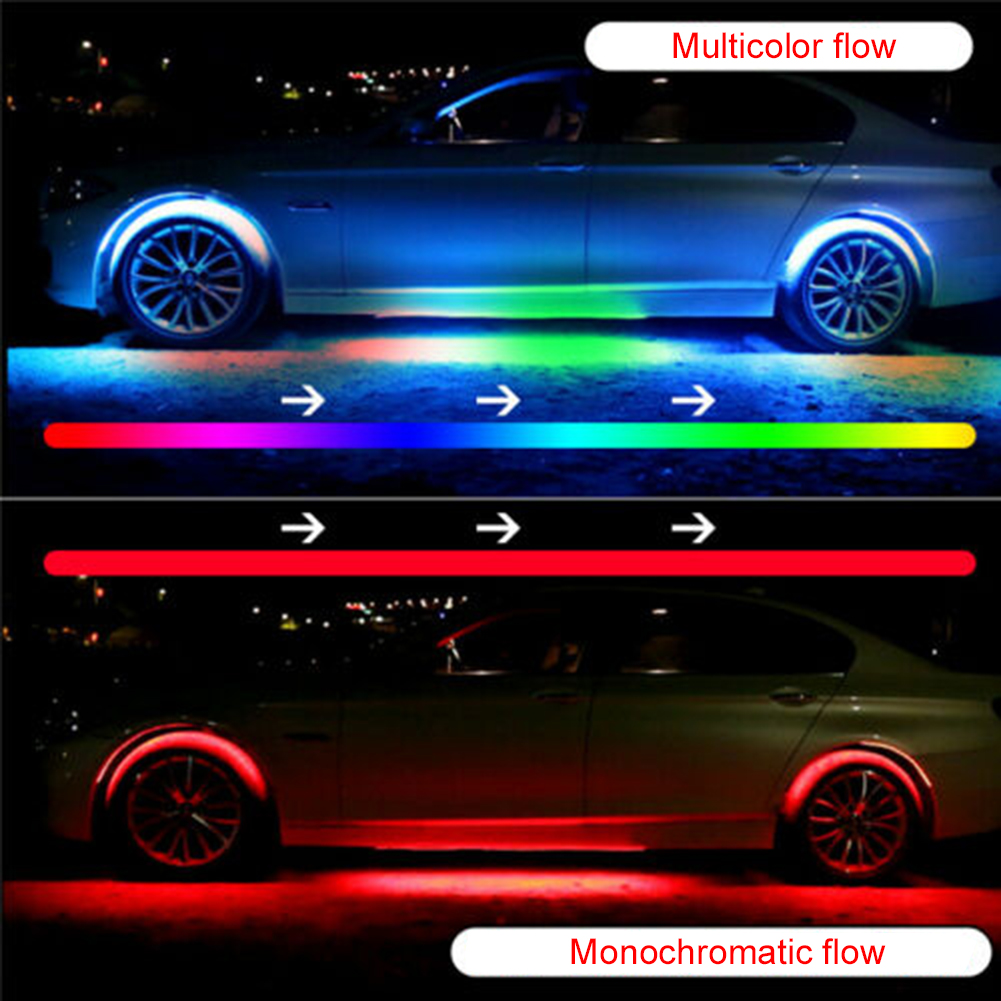 Bluetooth App Control RGB car LED Strip light Under CarTube Underglow Underbody System led Light