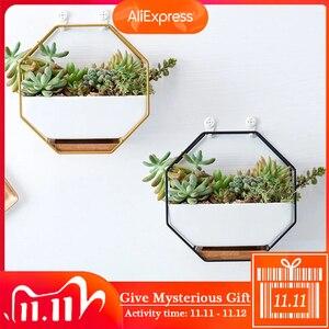 Image 1 - Pots on The Wall Ceramic Maceta Hanging Planter Succulent Plants Flower Pots for Orchids Air Plant Holder Indoor Pots for Plants