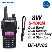 2020 BAOFENG UV82 Powerful 8Watt Two Way Radio Dual Band Long Range Handheld Walkie Talkie 10km Transceiver UV-82 Baofeng Radios