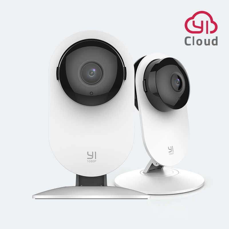 Yi 1080p 홈 카메라 실내 ip 보안 감시 시스템 홈/사무실/아기/보모/애완 동물 모니터 화이트 야간 비전