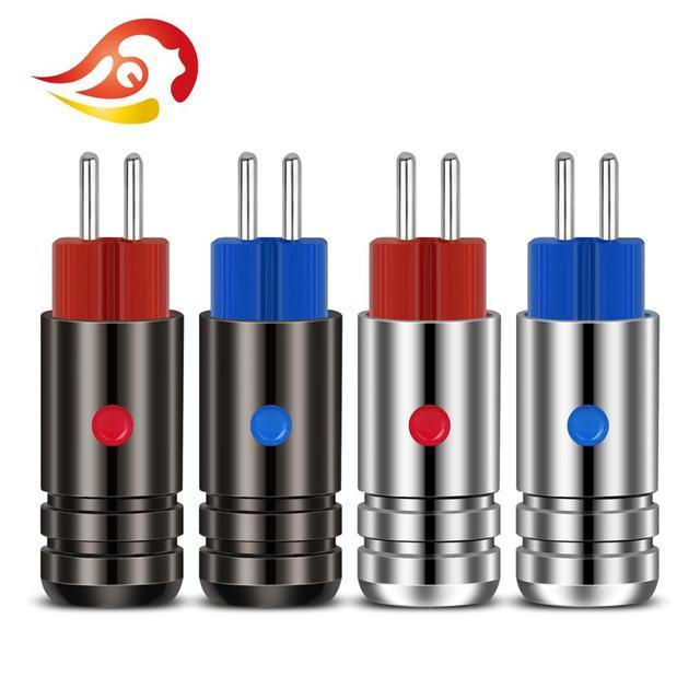QYFANG Aurora 0.78mm Koptelefoon Pin Rhodium Plated Beryllium Koper Plug 2 Pins Draad Connector Audio Jack Voor W4R UM3X JH13 JH16