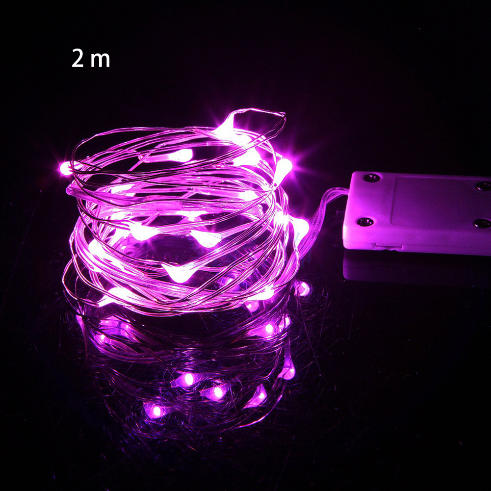 Led Copper Wire Party Mini Night Fairy Light Battery Powered Romantic Waterproof Wedding Chain Christmas Holiday Decor Garland