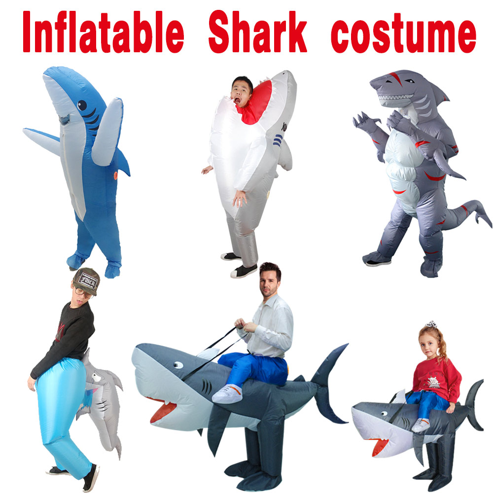 Halloween Cosplay Toys Carnival Inflatable Shark Costume Party Costumes For Women Men Animal Cosplay Props Stage Performances