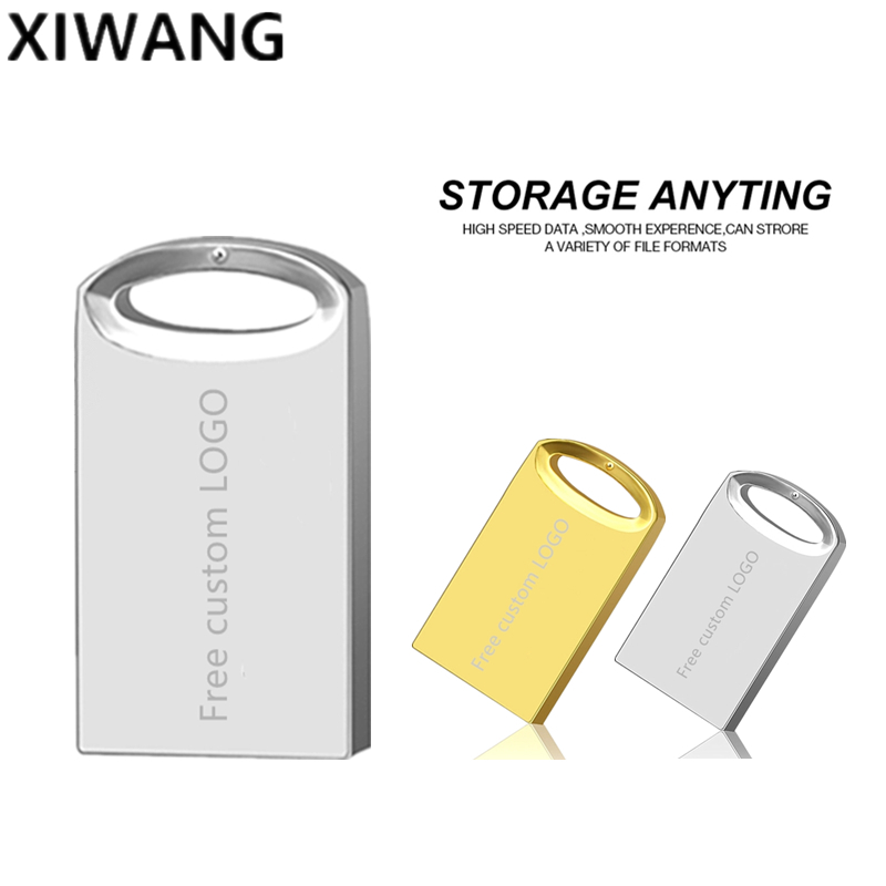 Pendrive 8gb Metal Usb Flash Drive 16gb Memory Stick 32gb Real Capacity 64gb Silver 128gb Free custom LOGO
