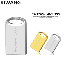 Pendrive 8gb Metal Usb Flash Drive 16gb Memory Stick 32gb Real Capacity 64gb Silver 128gb Free custom LOGO
