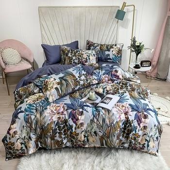 Egyptian Cotton Bedding Blue Floral