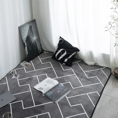 Tapis et tapis de salle de séjour   Tapis et chambre denfants, motif de licorne rose, tapis à poudre de princesse en flanelle pour chambre à coucher, CF