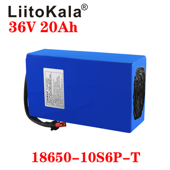 LiitoKala 36V 20Ah 30Ah 25Ah 15Ah 18650 Lithium Battery Electric Motorcycle Bicycle Scooter with BMS image
