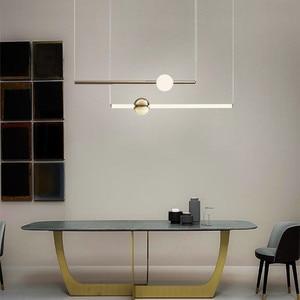 Image 2 - Postmodernistyczny artystyczny Design złota dioda wisiorek światła kreatywny długi kij nocna szlachetny salon Hotel Hall wisząca lampa oprawy