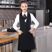 Cake shop restaurant waiter work clothes vest apron net cafe milk tea shop coffee canopies customized