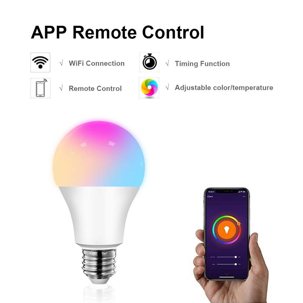 Light Bulb, E27 RGB LED 12W-15W | WIFI 3