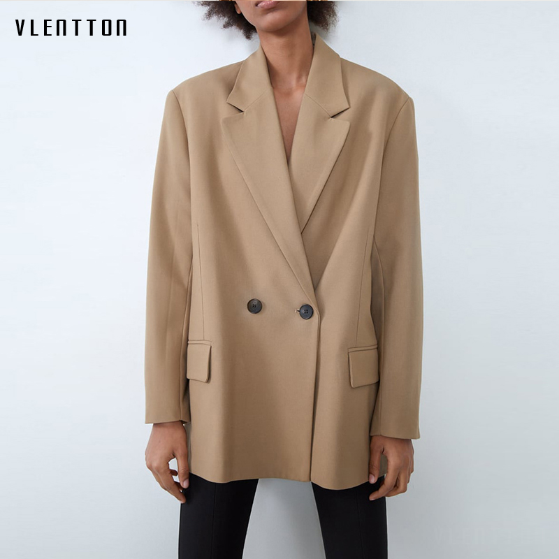 2020 Spring Autumn Casual Loose Blazer Women Single Breasted Solid Jacket Coat Female Outwear Tops Office Lady Blazers Feminino