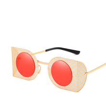 Personality Sun Glasses Colorful Trend Irregular Metal Sunglasses Hollow Out Male Ma'am Sunglasses