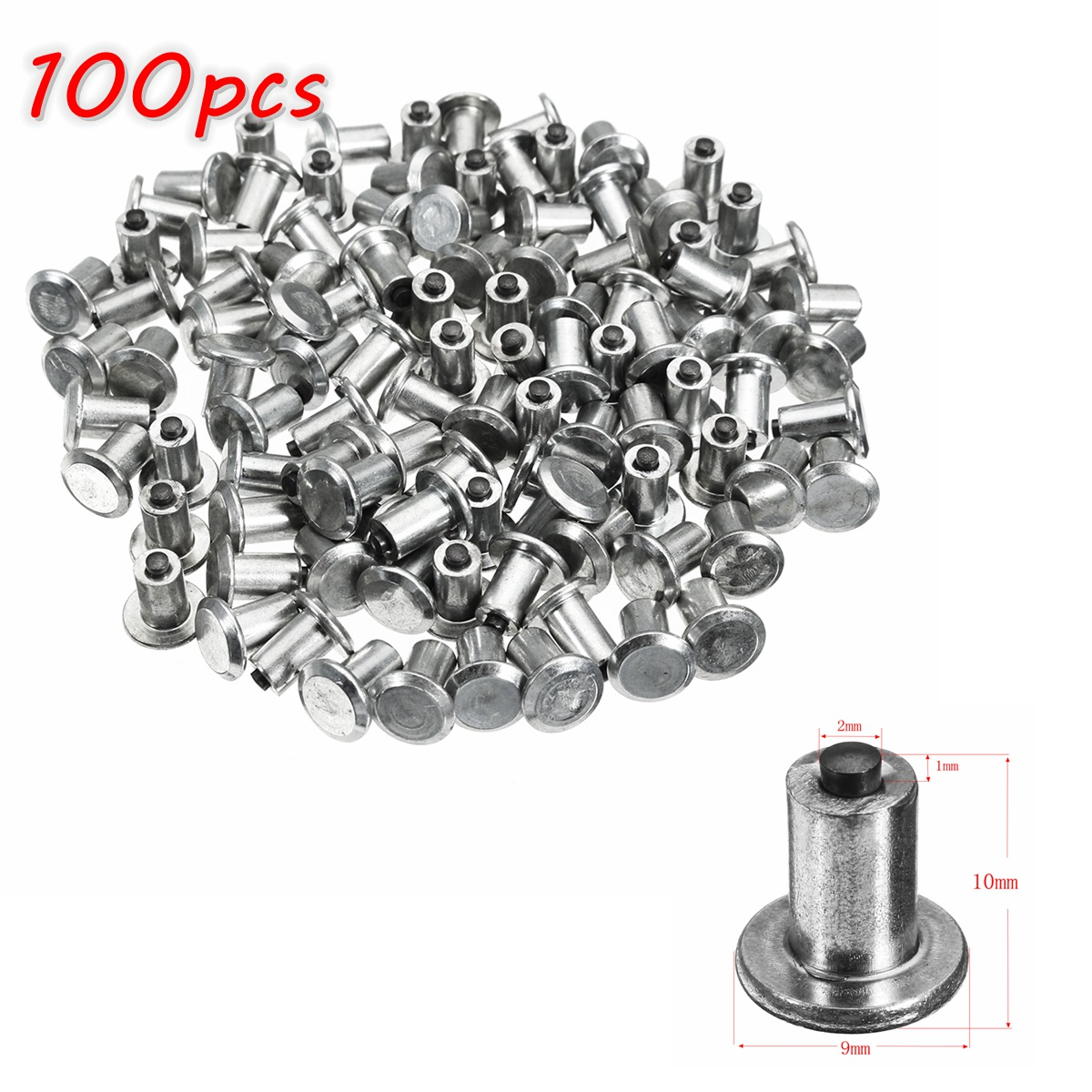 100pcs Spikes for Tires Universal Car Wheel Tyre Snow Spikes Studs Tires Anti-Slip Screw Stud Trim for Auto Car Truck Motorcycle